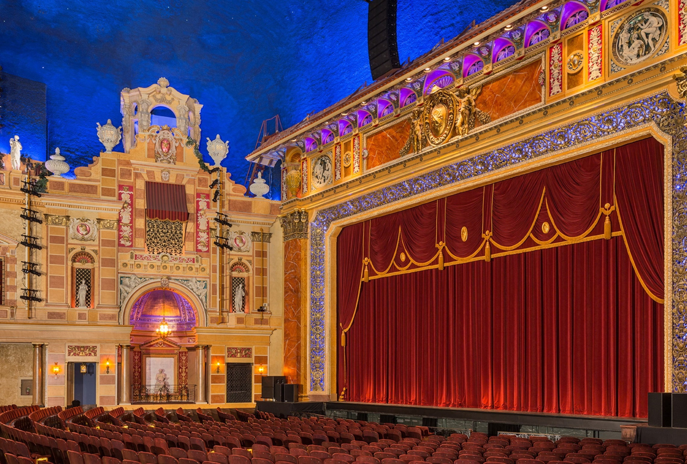 Orchestra view of Saenger Theatre